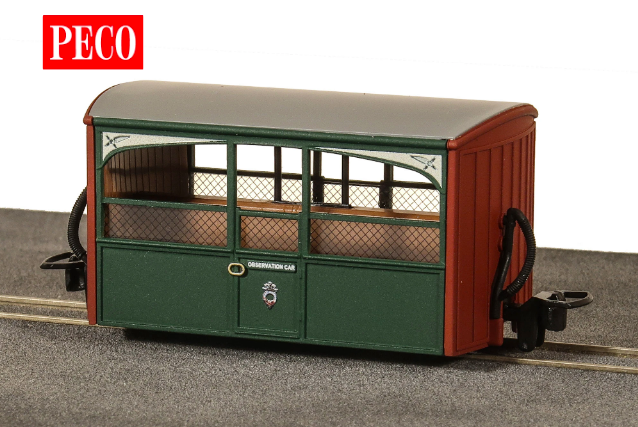 Peco GR-561 OO-9 FR Bug Box Coach, Zoo Car, Early Preservation Livery