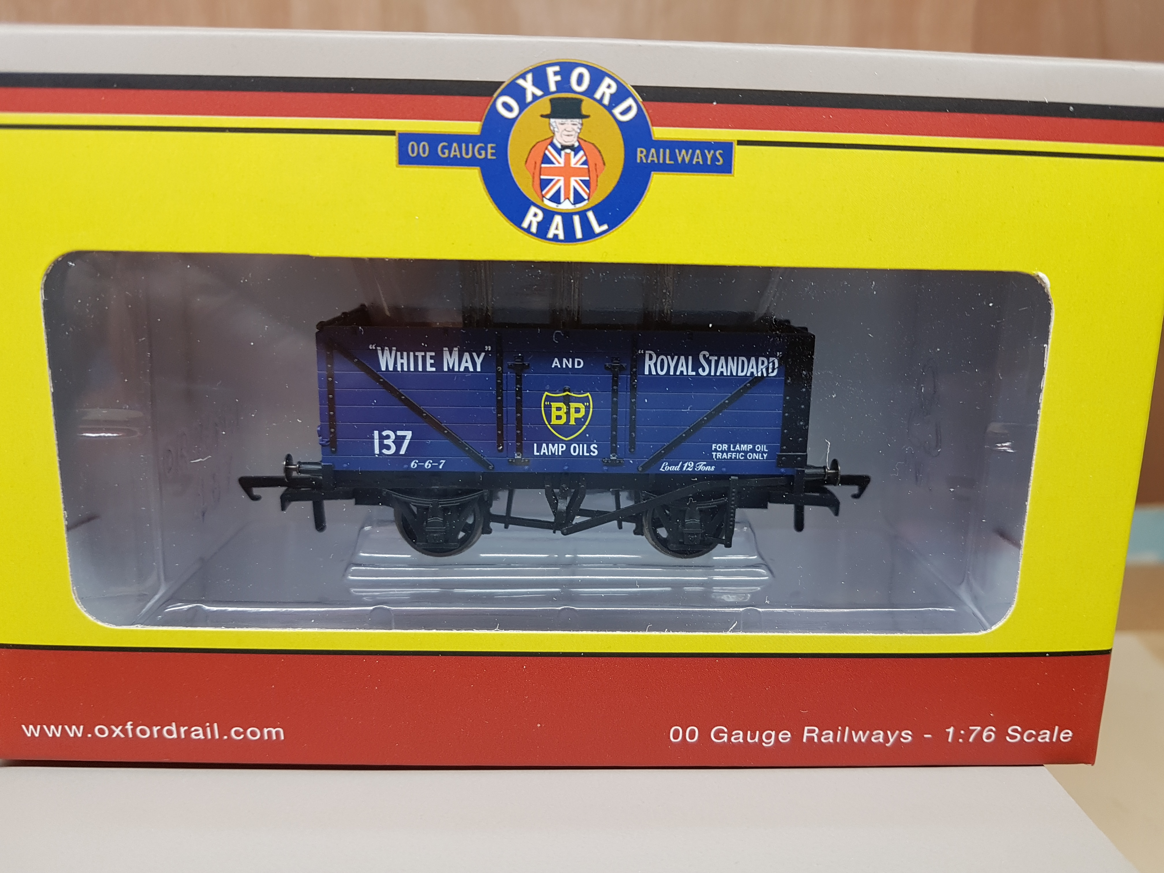 oxford rail GV 6014 BP 7 Plank wagon set of 3