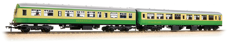 Bachmann 39-005 BR MK2A TSO & Class 101 DTCL 'Highlander' Coach Pack with seated figures