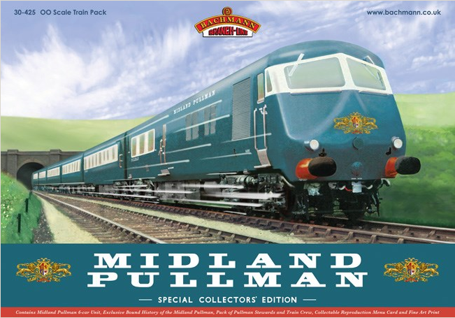 Bachmann 30-425 Midland Pullman Nanking Blue train pack - Collectors Edition