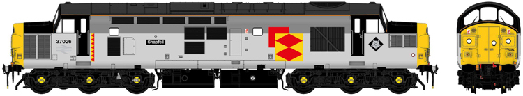 "Accurascale Class 37 37026 ""Shapfell"" Railfreight Distribution triple-grey - DCC Ready (PRE-ORDER ONLY)"