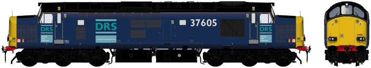 Accurascale Class 37/6 - 37605 Direct Rail Services blue with original logos - DCC Ready (PRE-ORDER ONLY)