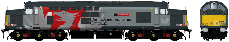 Accurascale Class 37/6 - 37608 Europhoenix / Rail Operations Group grey/red/silver - DCC Ready (PRE-ORDER ONLY)