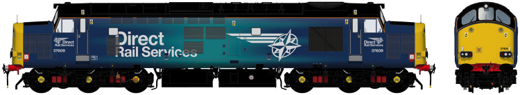 Accurascale Class 37/6 - 37609 Direct Rail Services blue with revised 'Compass' logos - DCC Sound (PRE-ORDER ONLY)