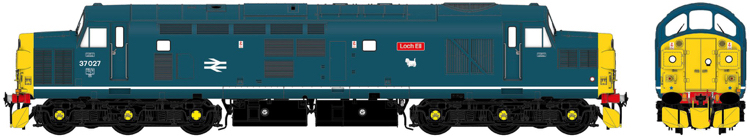 "Accurascale Class 37027 ""Loch Eil"" BR Blue with White Bodyside Stripe - DCC Ready (PRE-ORDER ONLY)"