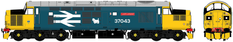 "Accurascale Class 37 37043 ""Loch Lomond"" BR Large Logo Blue - DCC Ready (PRE-ORDER ONLY)"