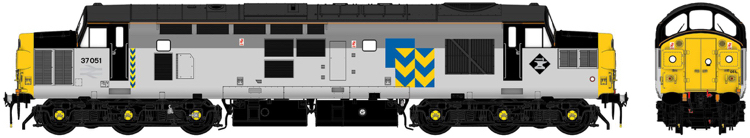Accurascale Class 37 37051 Railfreight Metals triple-grey - DCC Ready (PRE-ORDER ONLY)