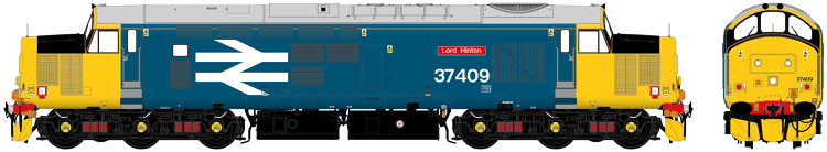 "Accurascale Class 37/4 - 37409 ""Lord Hinton"" BR Large Logo DCC Ready (PRE-ORDER ONLY)"