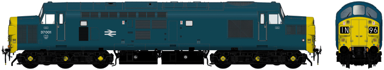 Accurascale English Electric Type 3 (Class 37) - 37001 BR blue (early 1970s) - DCC Ready (PRE-ORDER ONLY)