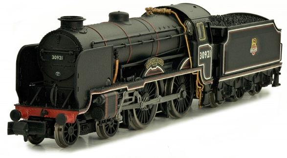 "Dapol 2S-002-002 Class V Schools 4-4-0 30921 ""Shrewsbury"" BR Lined Black with early crest"