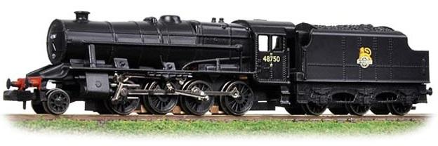 Graham Farish 372-154 Class 8F 2-8-0 48750 BR Plain Black with early crest