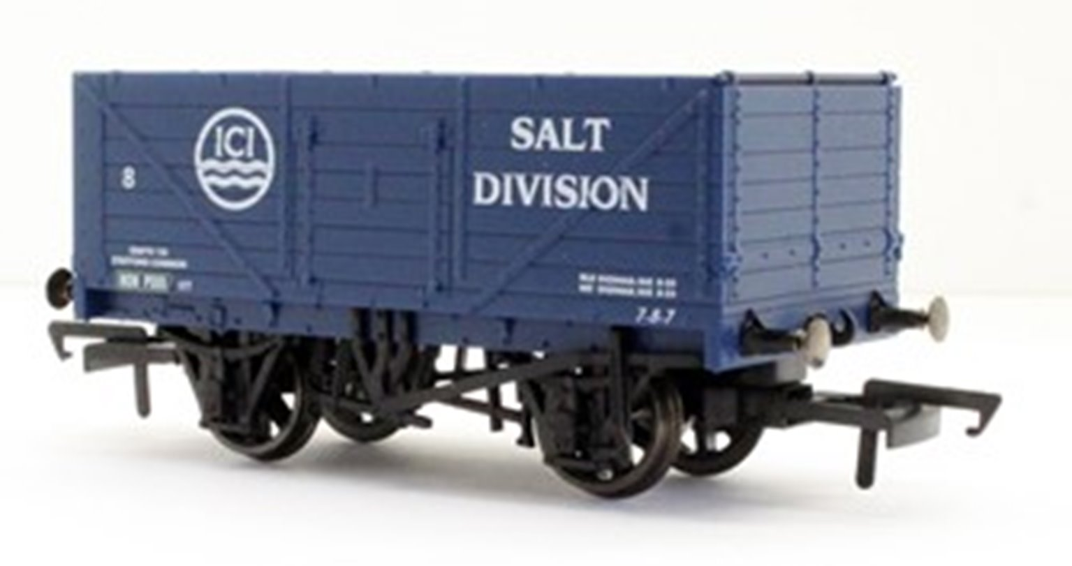 Oxford Rail GV6020 (OX76SPE010) 3 pack ICI salt 7 Plank open wagon