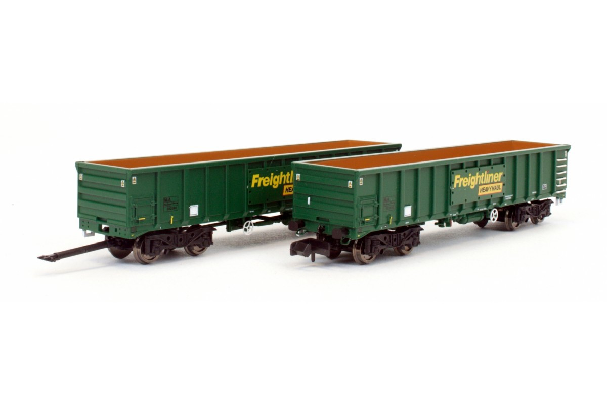 Dapol 2F-025-004 MJA Freightliner Heavy Haul Box Van Twin Pack 502045 / 046