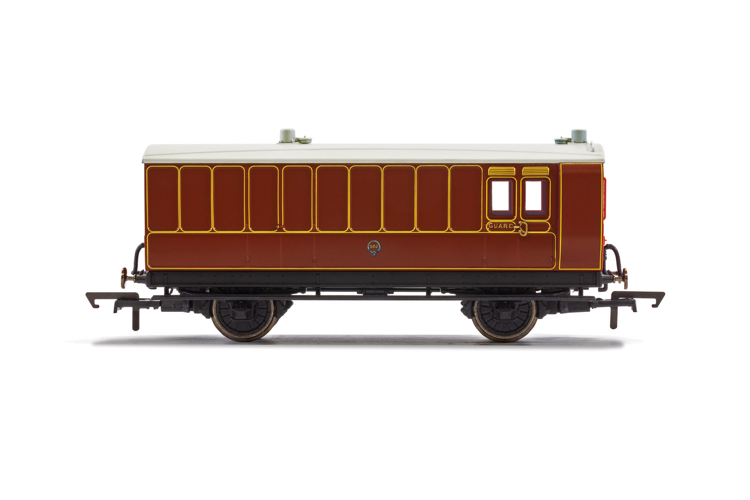 Hornby R40072 LB&SCR, 4 Wheel Coach, Brake Baggage, 102 - Era 2