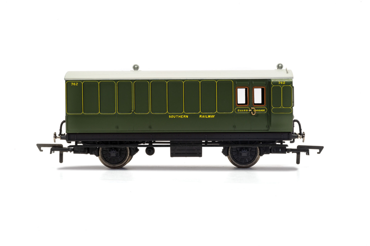 Hornby R40088 SR, 4 Wheel Coach, Brake Baggage, 762 - Era 3
