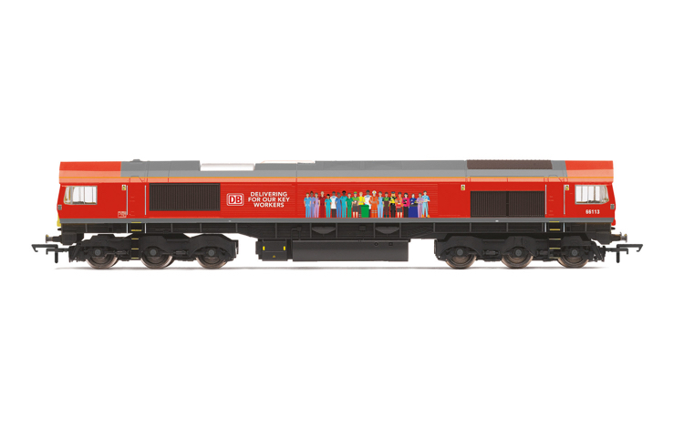 Hornby R30074 DB, Class 66, Co-Co, 66113 'Delivering For Our Key Workers' - Era 11