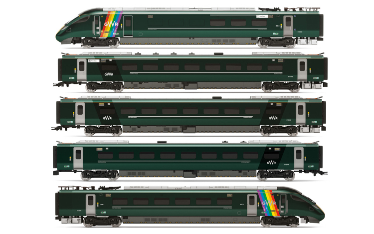 Hornby R3872 GWR, Class 800, Trainbow Train Pack - Era 11