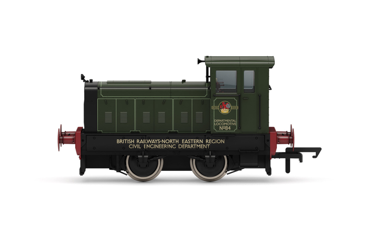 Hornby R3896 BR, Ruston & Hornsby 88DS, 0-4-0, No. 84 - Era 6