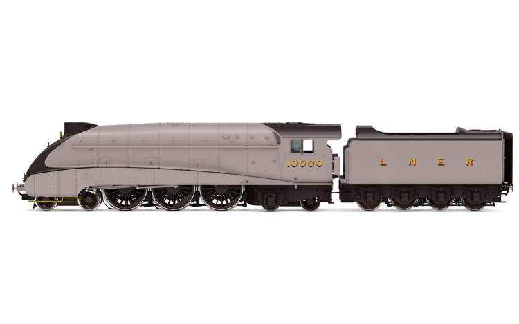 Hornby R3978 LNER, Class W1 'Hush Hush', Streamlined, 4-6-4, 10000 - Era 3