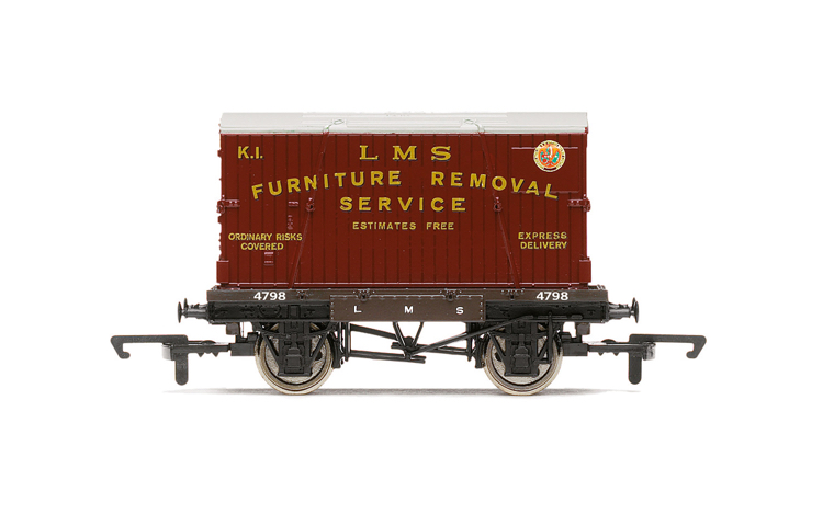Hornby R60072 LMS, Conflat A, Furniture Removal - Era 3