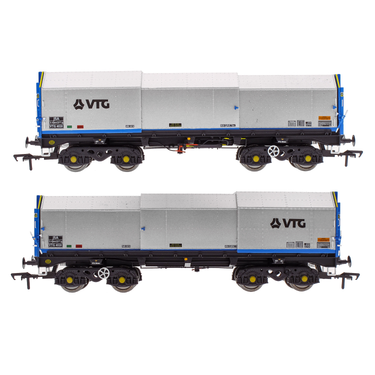 Accurascale JSA Bogie Covered Steel Wagon Twin Pack - VTG 1 (PRE-ORDER ONLY)