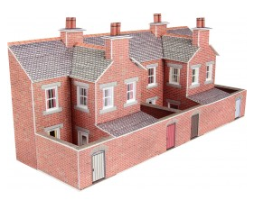 Metcalfe Models PN176 Low Relief Terraced House Backs (Red Brick)