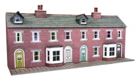 Metcalfe Models PN174 Low Relief Terraced House Fronts (Red Brick)