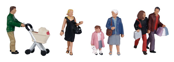 Bachmann 36-046 Shopping Figures