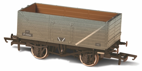 Oxford Rail OR76MW7015 7 Plank BR grey (weathered)