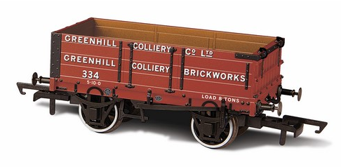 Oxford Rail OR76MW4008 4 Plank 'Greenhill Colliery No 334'
