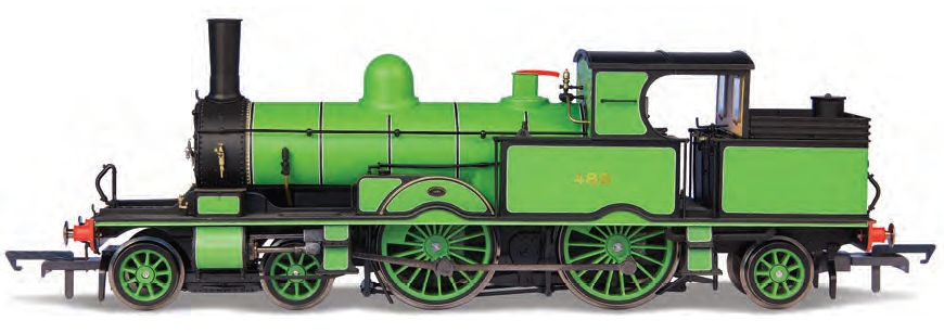 Oxford Rail OR76AR003 Adams Radial No.488 LSWR sage green