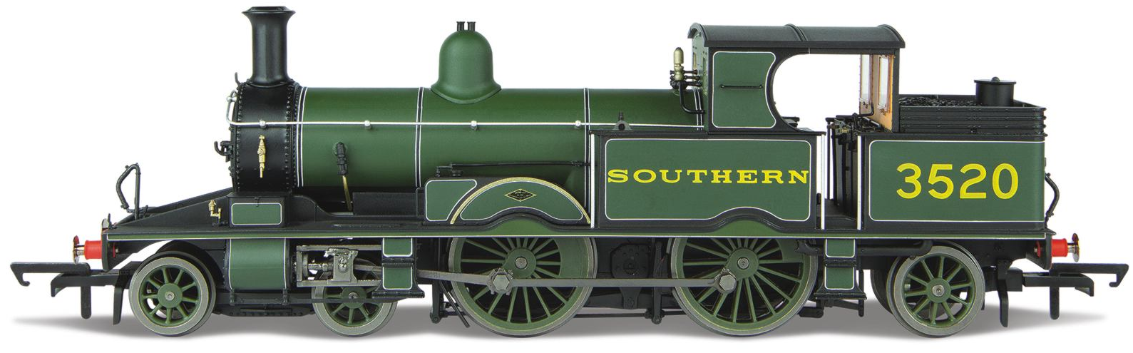 Oxford Rail OR76AR006 Adams Radial No.3520 SR Lined Maunsell Green