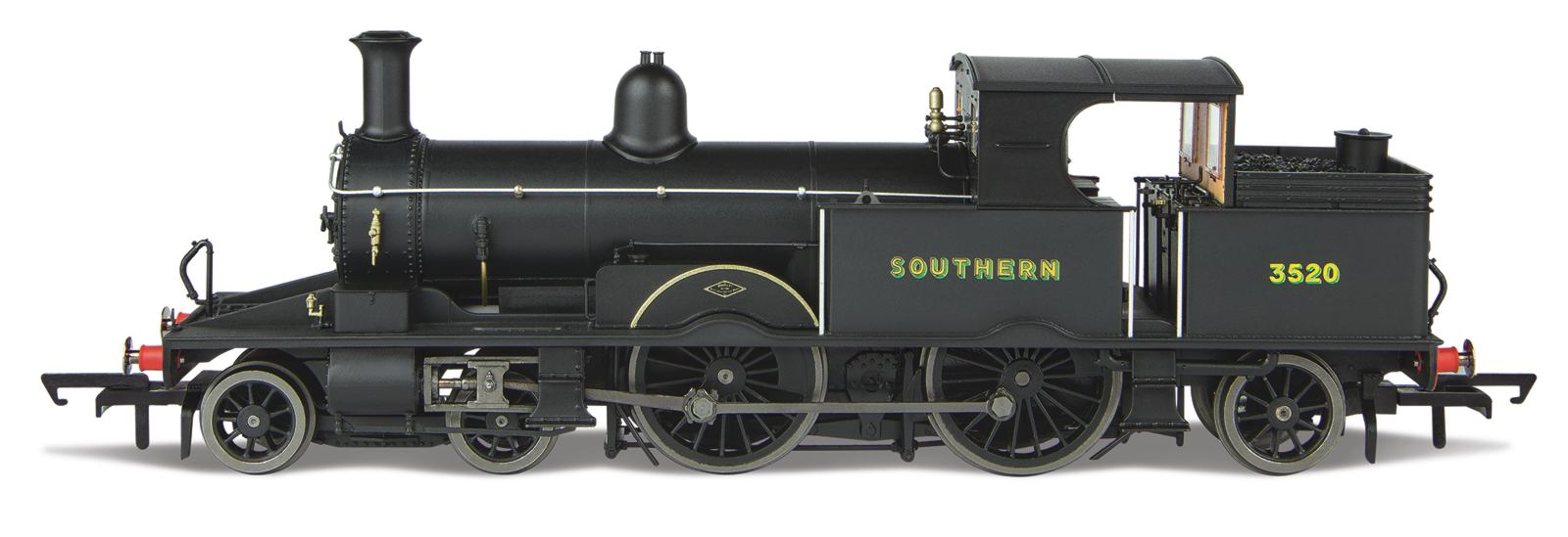 Oxford Rail OR76AR007XS Adams Radial No.3520 Southern Wartime Black (DCC Sound)