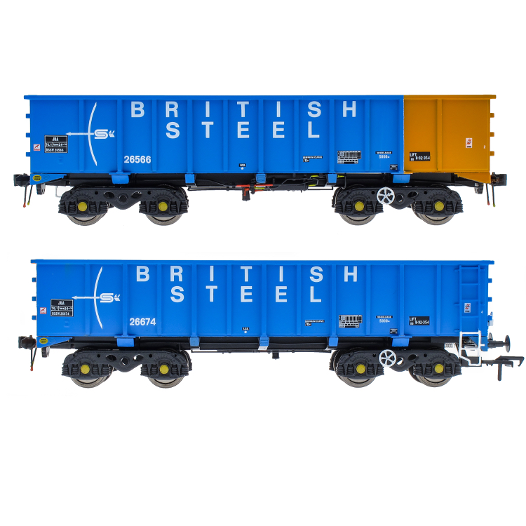 Accurascale PTA/JTA+JUA Bogie Tippler Pack - British Steel Blue (Outer) (PRE-ORDER ONLY)