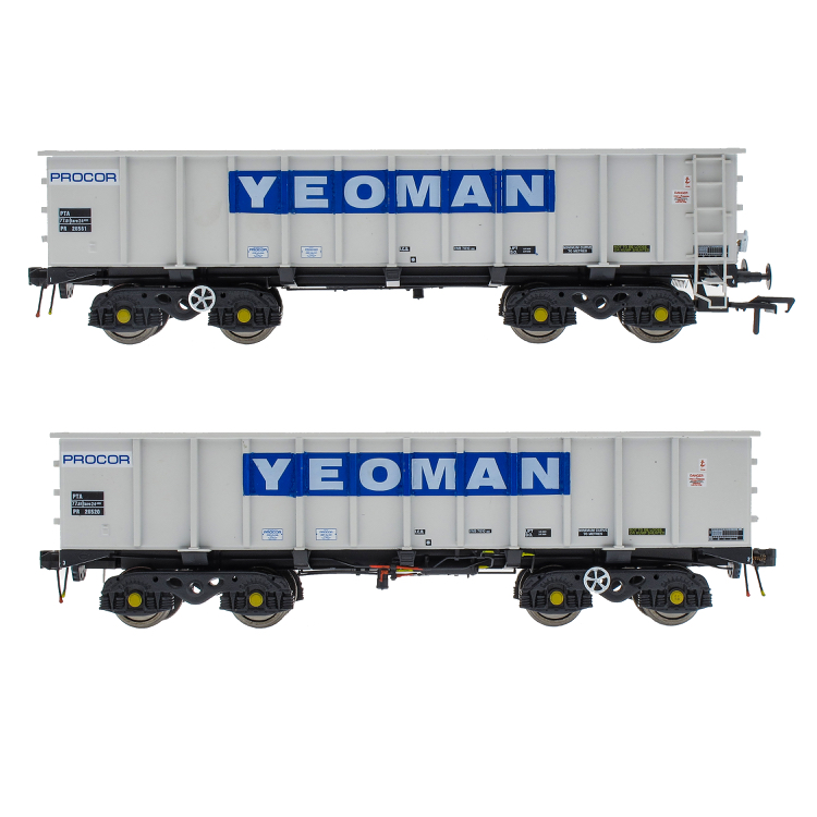 Accurascale PTA/JUA Bogie Tippler Pack - Yeoman [Procor] Grey / Ivory - Inner Pack (PRE-ORDER ONLY)
