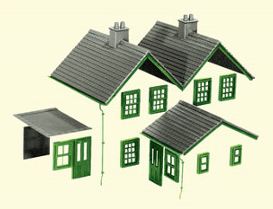 Peco LK-79 Kit 2, Slate Roofs, Ridge Tiles, Flat Roofs, Chimneys etc.