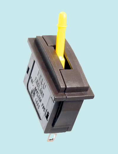 Peco PL-26Y Passing Contact Switch, Yellow Lever