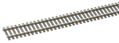 Peco SL-100b Wooden sleeper type Code 100, nickel silver rail - 914mm x 25