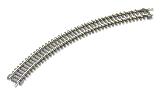 Peco ST-15 No.2 Radius Double Curve, 263.5mm (10 inches) radius