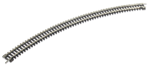 Peco ST-19 No.4 Radius Double Curve, 333.4mm (1 inches) radius