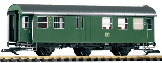 Piko 37602 DB Rebuilt 2nd Class 3 Wheeled Baggage Coach Green