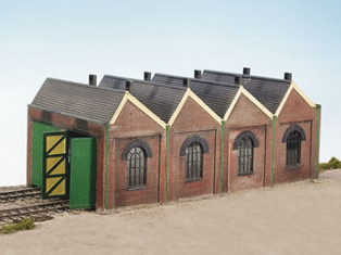 Wills CK12 Two Road Engine Shed
