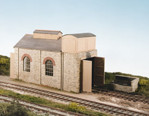 Wills CK14 Single Road Engine Shed