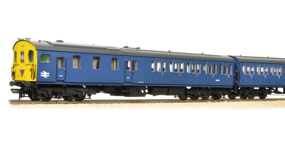 Bachmann 31-238Z Class 205 2-H Thumper 1121 BR Blue with small yellow panel