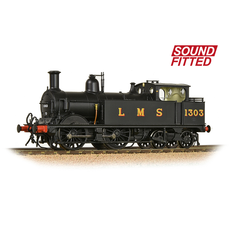 Bachmann 31-741SF MR 1532 (1P) Tank 1303 LMS Black (Original) - SOUND FITTED