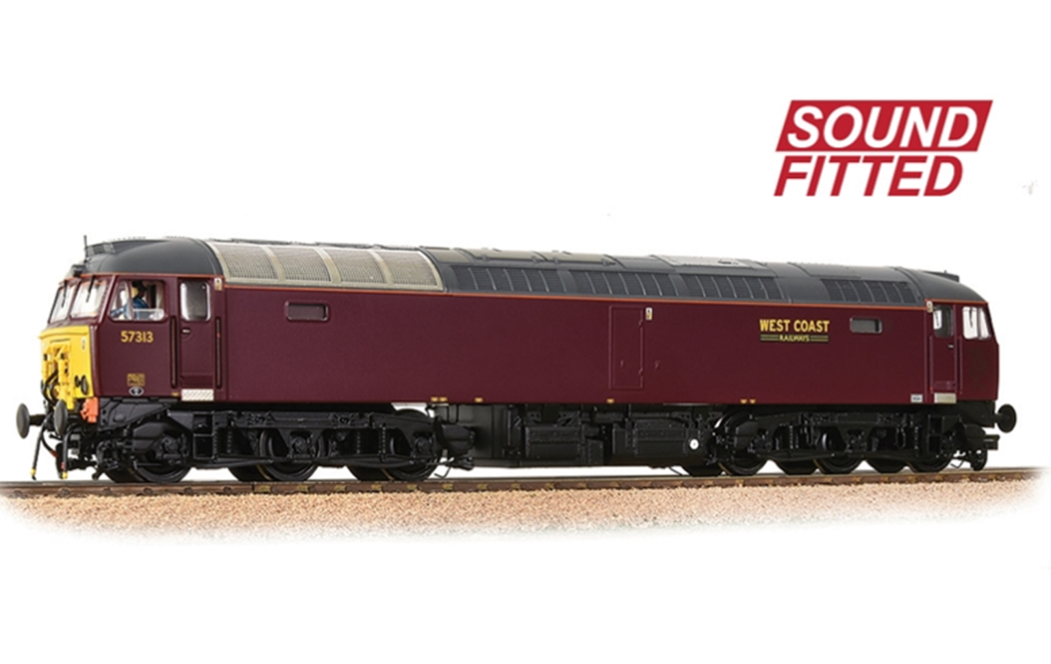 Bachmann 32-765SF Class 57/3 57313 WCRC Maroon - SOUND FITTED