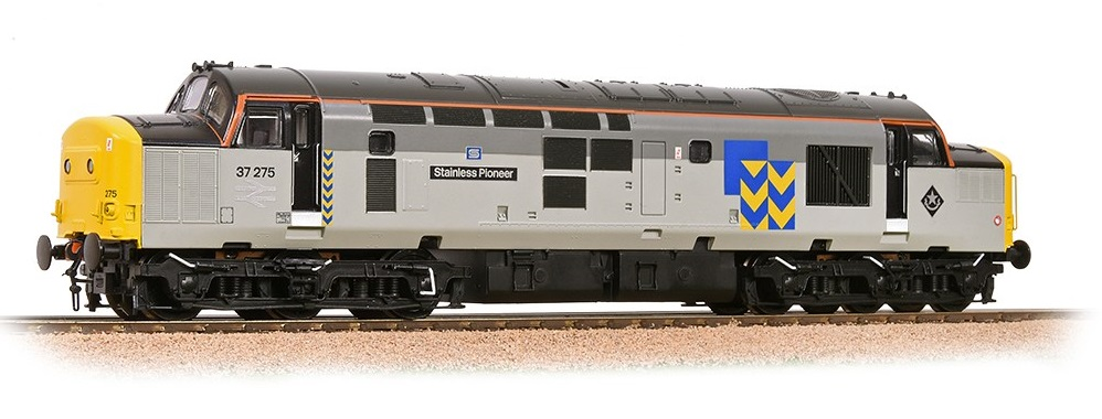 Bachmann 32-778RJSF Class 37/0 37275 Stainless Pioneer BR Railfreight Metals DCC