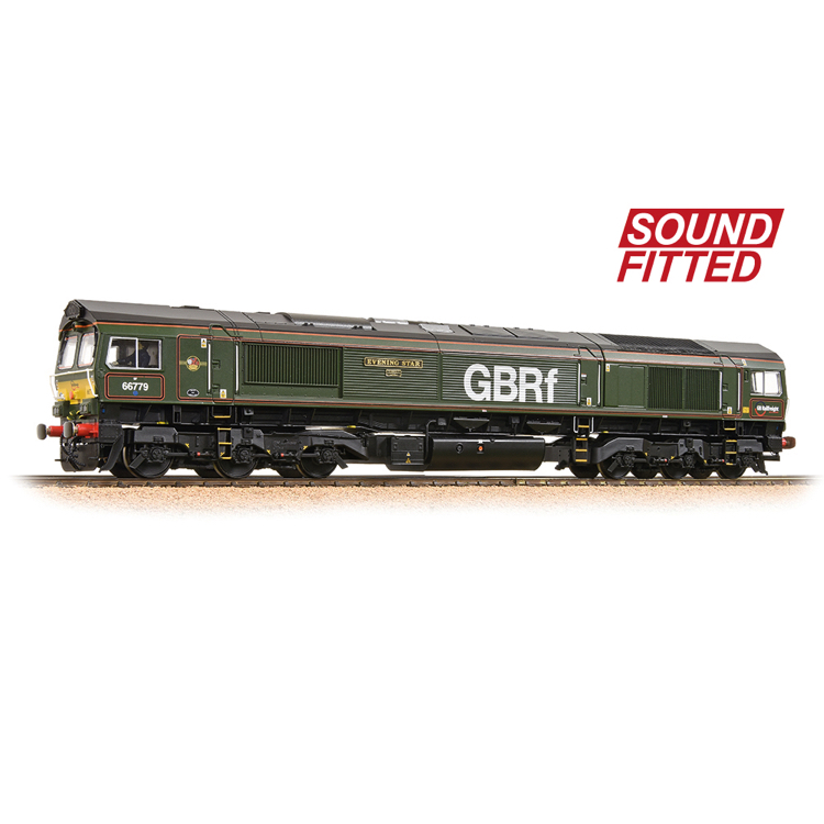 Bachmann 32-983SF Class 66/7 66779 'Evening Star' GBRf Brunswick Green