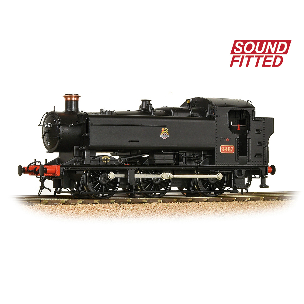 Bachmann 35-026SF GWR 94XX Pannier Tank 9487 BR Black (Early Emblem)