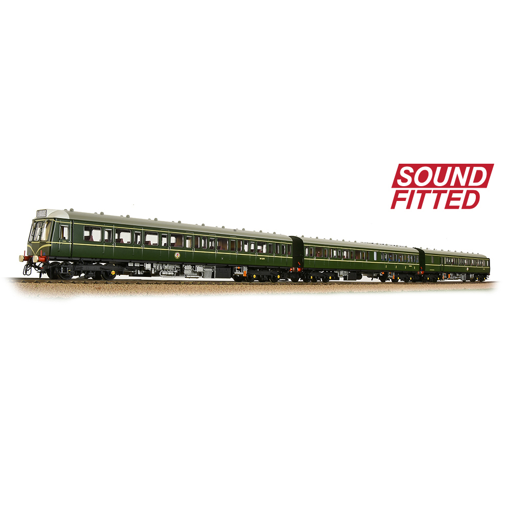 Bachmann 35-500SF Class 117 3-Car DMU BR Green (Speed Whiskers)